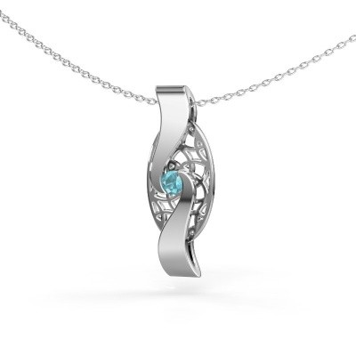 Picture of Pendant Darleen 925 silver blue topaz 3 mm