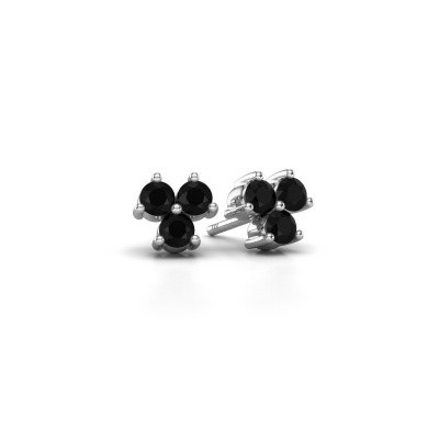Picture of Stud earrings Shirlee 925 silver black diamond 0.72 crt