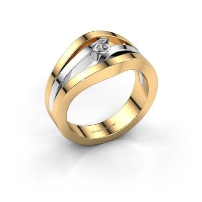 Ring Carlijn 585 goud diamant 0.03 crt