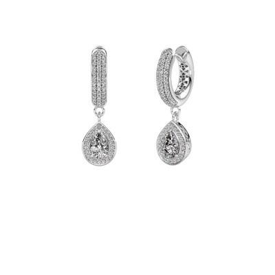 Picture of Drop earrings Barbar 2 950 platinum zirconia 6x4 mm