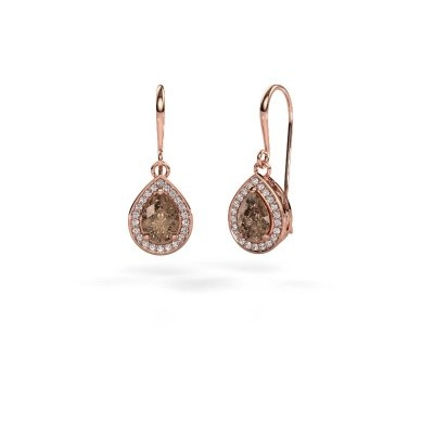 Foto van Oorhangers Beverlee 1 375 rosé goud bruine diamant 1.41 crt