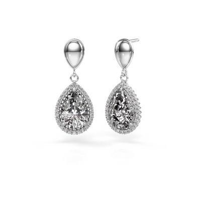 Foto van Oorhangers Cheree 1 950 platina diamant 6.42 crt