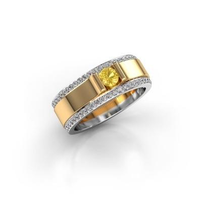 Foto van Herenring Danillo 585 goud gele saffier 4.2 mm