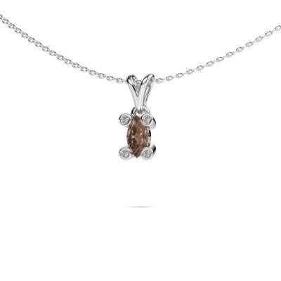 Picture of Necklace Cornelia Marquis 950 platinum brown diamond 0.37 crt