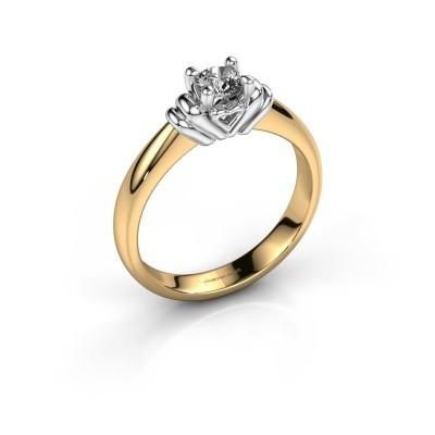 Foto van Verlovingsring Esmeralde 585 goud diamant 0.30 crt