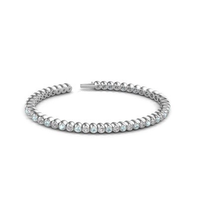Picture of Tennis bracelet Patrica 585 white gold lab created 2.75 crt