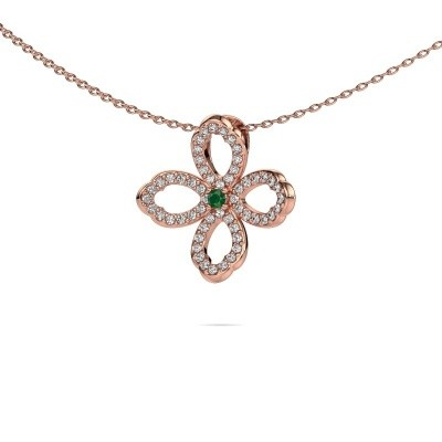 Picture of Necklace Chelsea 375 rose gold emerald 2 mm