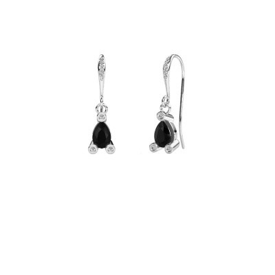 Picture of Drop earrings Bunny 2 375 white gold black diamond 1.635 crt