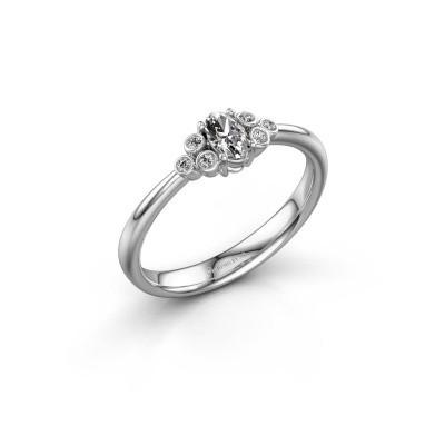 Foto van Verlovingsring Lucy 1 585 witgoud diamant 0.572 crt