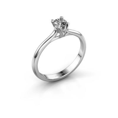 Foto van Verlovingsring Isa 1 585 witgoud diamant 0.25 crt