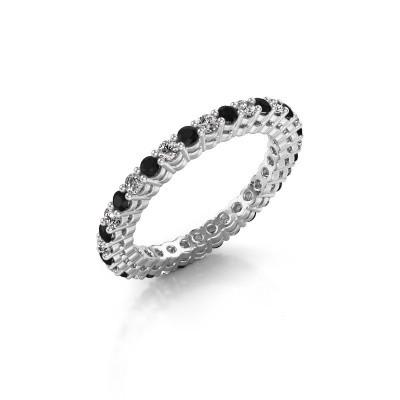 Foto van Aanschuifring Rufina 3 925 zilver zwarte diamant 0.986 crt