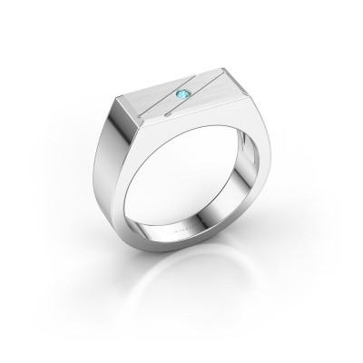 Foto van Heren ring Dree 3 925 zilver blauw topaas 2 mm