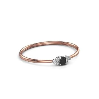 Foto van Slavenarmband Lucy 585 rosé goud zwarte diamant 1.500 crt