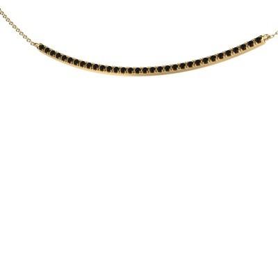 Picture of Bar necklace Simona 585 gold black diamond 0.576 crt