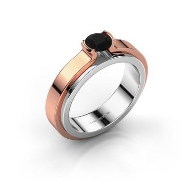 Verlobungsring Jacinda 585 Weissgold Schwarz Diamant 0.48 crt
