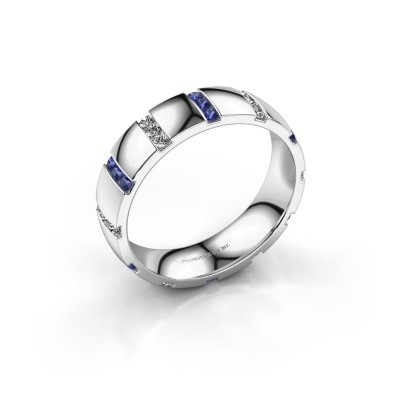 Huwelijksring Juul 925 zilver saffier ±5x1.8 mm