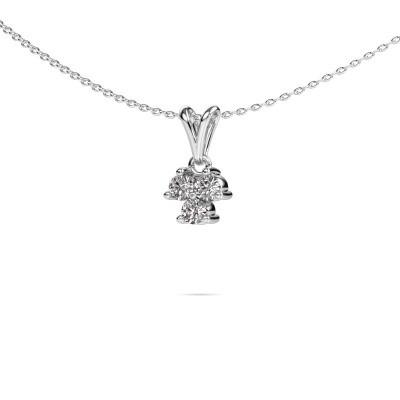Ketting Shirlee 585 witgoud diamant 0.30 crt