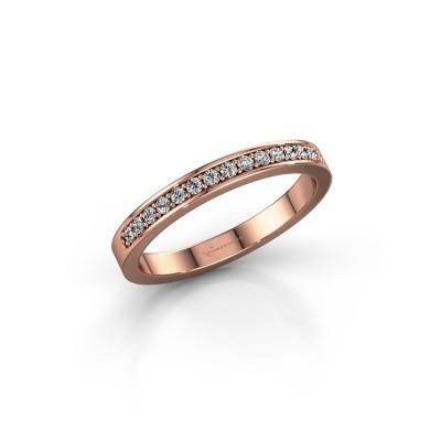 Foto van Aanschuifring SRJ0005B20H6 375 rosé goud diamant 0.168 crt