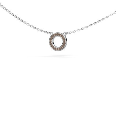 Picture of Pendant Round 2 585 white gold brown diamond 0.05 crt