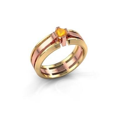 Foto van Heren ring Sem 585 rosé goud citrien 4.7 mm
