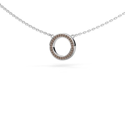 Picture of Pendant Round 1 375 white gold brown diamond 0.075 crt