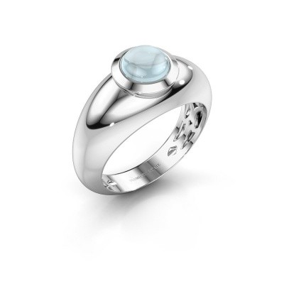 Foto van Ring Sharika 925 zilver aquamarijn 6 mm