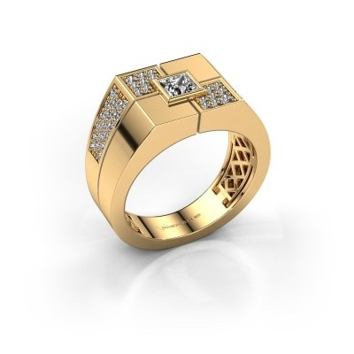 Foto van Heren ring Rogier 585 goud zirkonia 4 mm