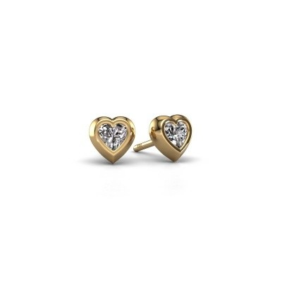 Picture of Stud earrings Charlotte 585 gold diamond 0.50 crt
