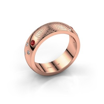 Foto van Ring Minke 750 rosé goud