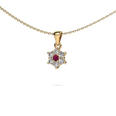 Picture of Necklace Chantal 375 gold rhodolite 2.4 mm