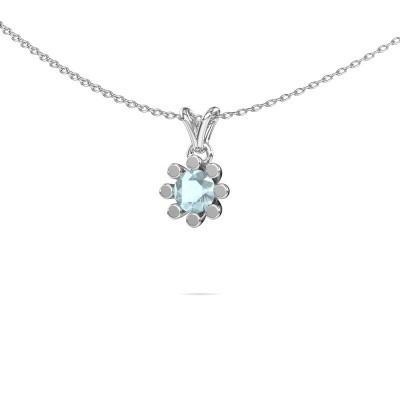 Picture of Pendant Carola 1 375 white gold aquamarine 5 mm