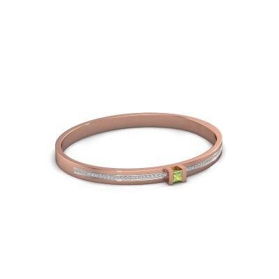 Foto van Armband Desire 585 rosé goud peridoot 4 mm