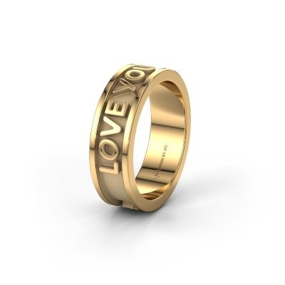 Trouwring namering 1 585 goud ±6x1.8 mm