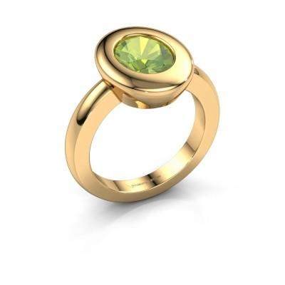Ring Selene 1 585 goud peridoot 9x7 mm