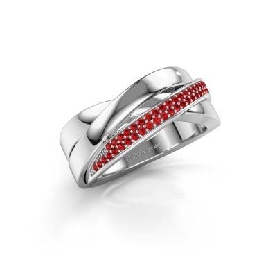 Foto van Ring Katherina 925 zilver robijn 1 mm