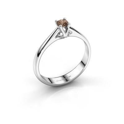 Foto van Verlovingsring Janna 1 925 zilver bruine diamant 0.15 crt
