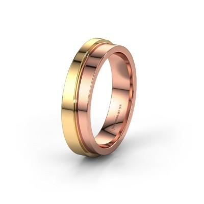 Foto van Trouwring WH6016M15E 585 rosé goud ±5x2.4 mm