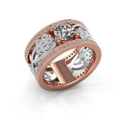 Foto van Ring Severine 585 rosé goud zirkonia 6 mm