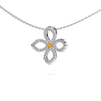 Picture of Necklace Chelsea 585 white gold citrin 2 mm