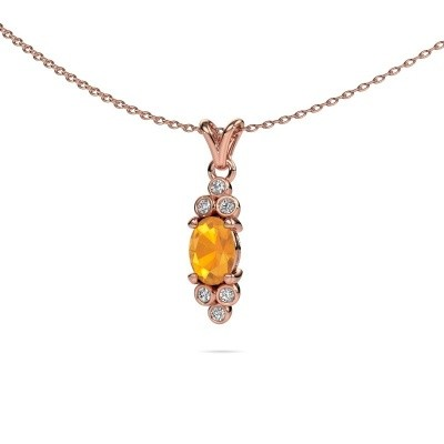 Picture of Pendant Lucy 2 585 rose gold citrin 7x5 mm