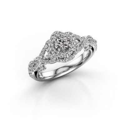 Foto van Verlovingsring Cathryn 585 witgoud diamant 0.864 crt