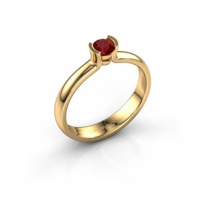 Foto van Verlovingsring Ophelia 585 goud robijn 4 mm