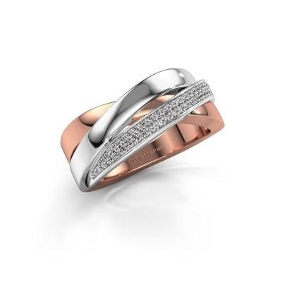 Foto van Ring Katherina 585 rosé goud diamant 0.255 crt