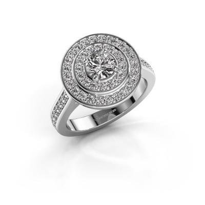 Foto van Ring Alecia 2 585 witgoud diamant 0.99 crt