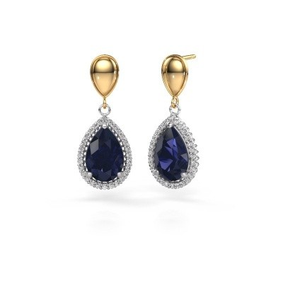 Picture of Drop earrings Cheree 1 585 white gold sapphire 12x8 mm