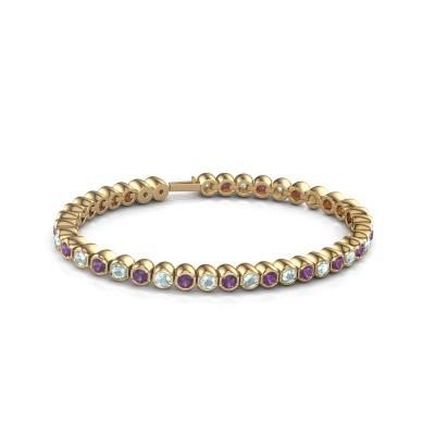 Foto van Tennisarmband Mellisa 375 goud amethist 3.5 mm