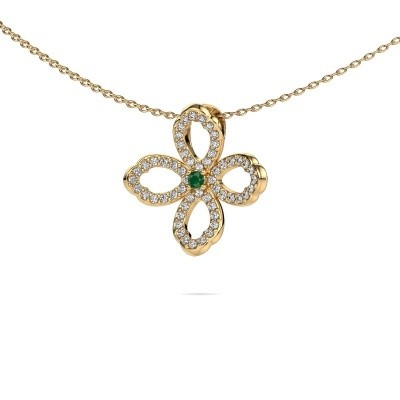 Picture of Necklace Chelsea 585 gold emerald 2 mm