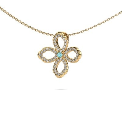 Picture of Necklace Chelsea 585 gold blue topaz 2 mm