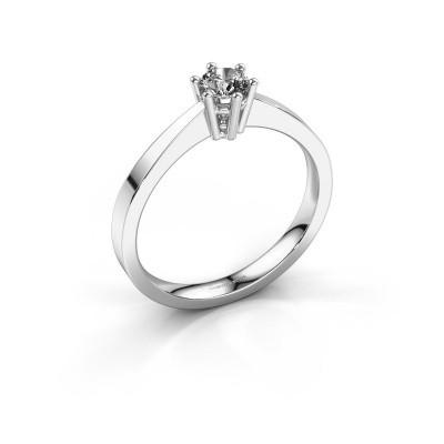 Foto van Verlovingsring Noortje 585 witgoud diamant 0.25 crt