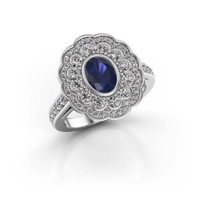 Picture of Ring Jocelyn 585 white gold sapphire 7x5 mm